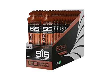 Science in Sport Energy Gel Pack, SIS Energy Gel Caffeine, 22g Fast Acting Carbs, Performance Endurance Gels, Double Espresso Flavor – 2 Oz. 30 Pack