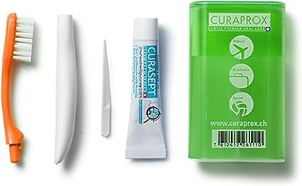 5 Pack Curaprox Travel Set (de viaje cepillo de dientes y pasta de dientes) verde 5 x 1 pieza: Amazon.es: Belleza