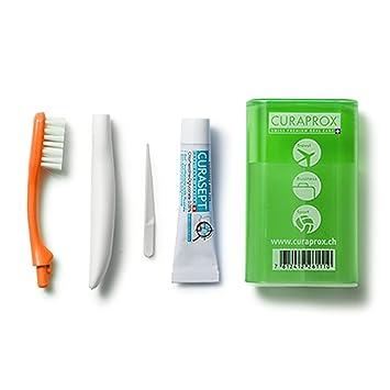 Curaprox Juego de viaje (cepillo de dientes y pasta de dientes), color verde, 1 pieza: Amazon.es: Belleza