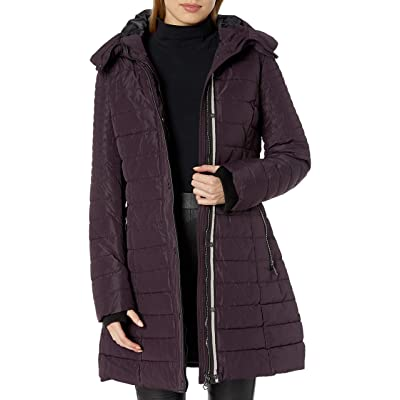 Nanette Lepore Women's Envelope Hood Puffer Coat: Clothing