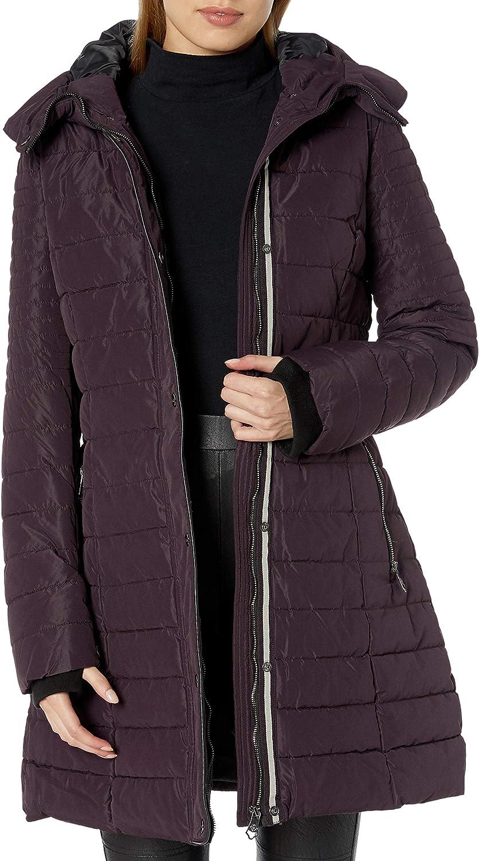 Nanette Lepore womens Envelope Hood Puffer Coat