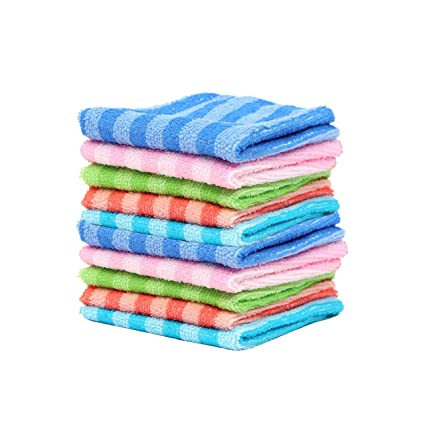 Livzing Dish Cleaning Cloth Kitchen Microfibre Towel Hand Napkin Multicolor Table Wipe � 10 Piece