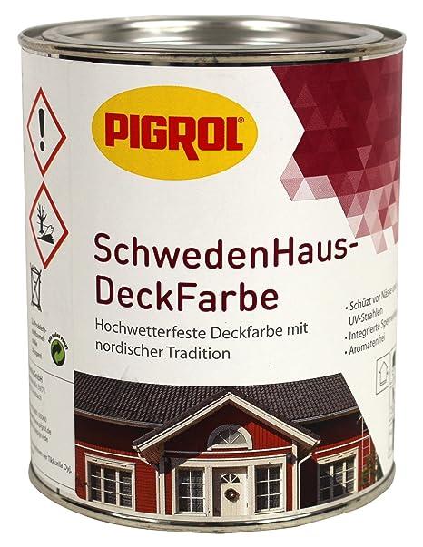 Pigrol Schwedenhaus Deckfarbe Weiss 075l Wetterschutzfarbe