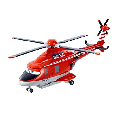 Disney Planes: Fire and Rescue Blade Ranger Helicopter With Spinning Propeller: Toys & Games