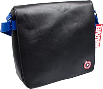 Alpa Marvel Captain America 12-Inch Vinyl Record Messenger Bag 45 cm Black