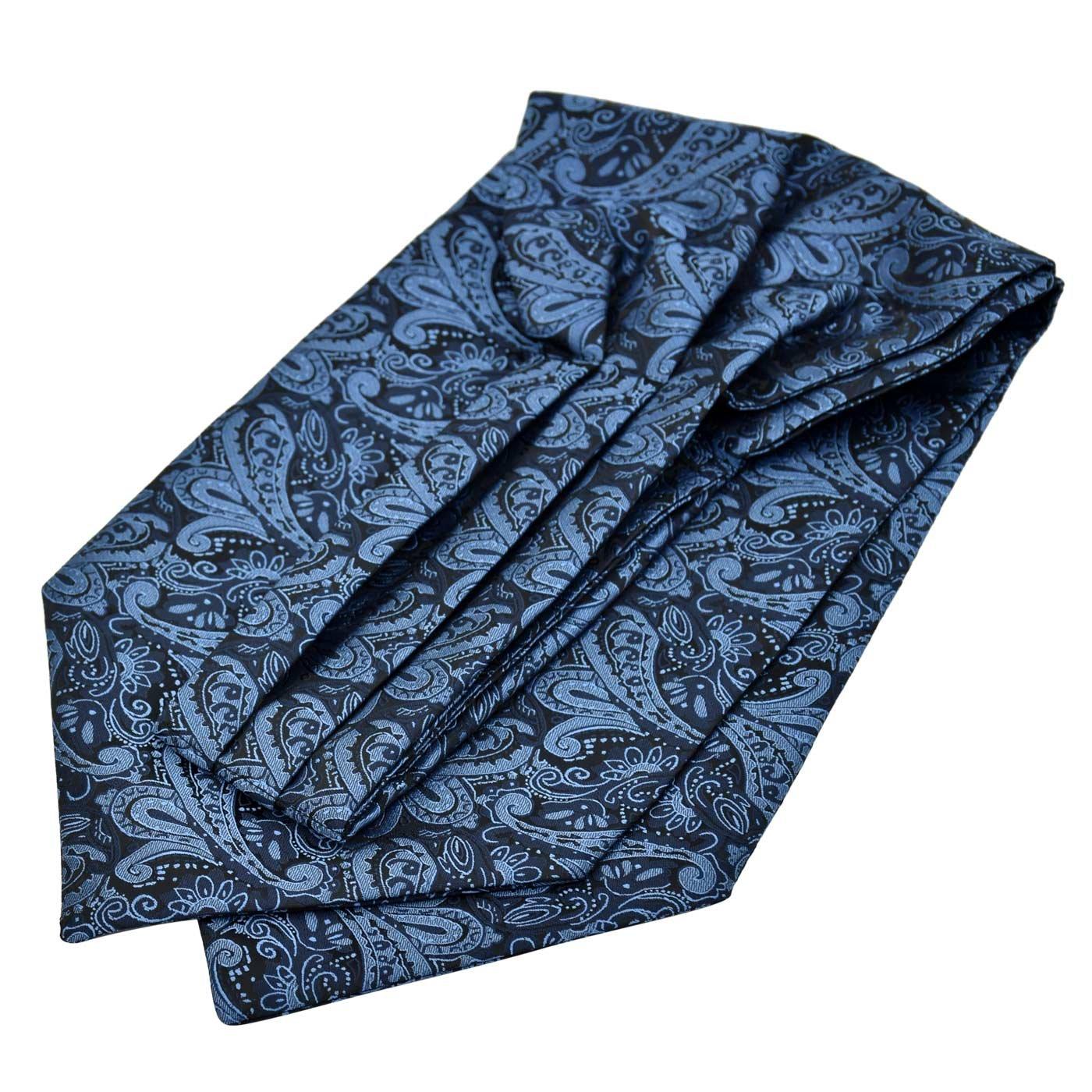 Panegy Herren Krawattenschal Ascotkrawatte Schal Fashion Gentleman Cravat Ties Blau