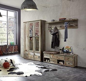 Lifestyle4living Garderobe Set Garderobenschrank