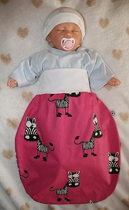 Saco de dormir con bonitas Forma de Animales Zebra/rosa Talla:0-6