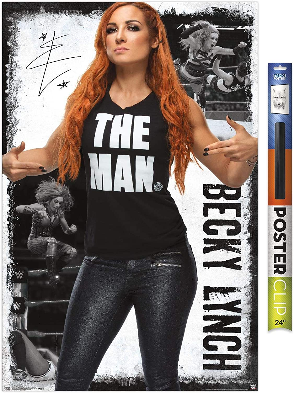 Trends International WWE Becky Lynch 19 Unframed Version 22.375 x 34