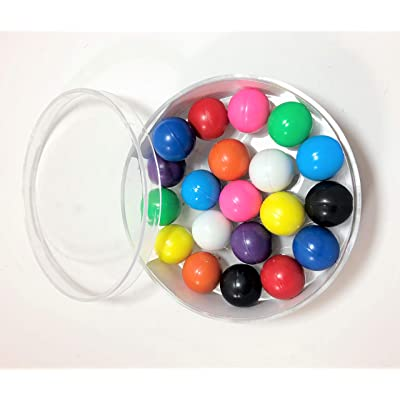 Dowling Magnets Magnet Marbles (.63 inch in Diameter), Set of 20 in Clear Dish: Industrial & Scientific