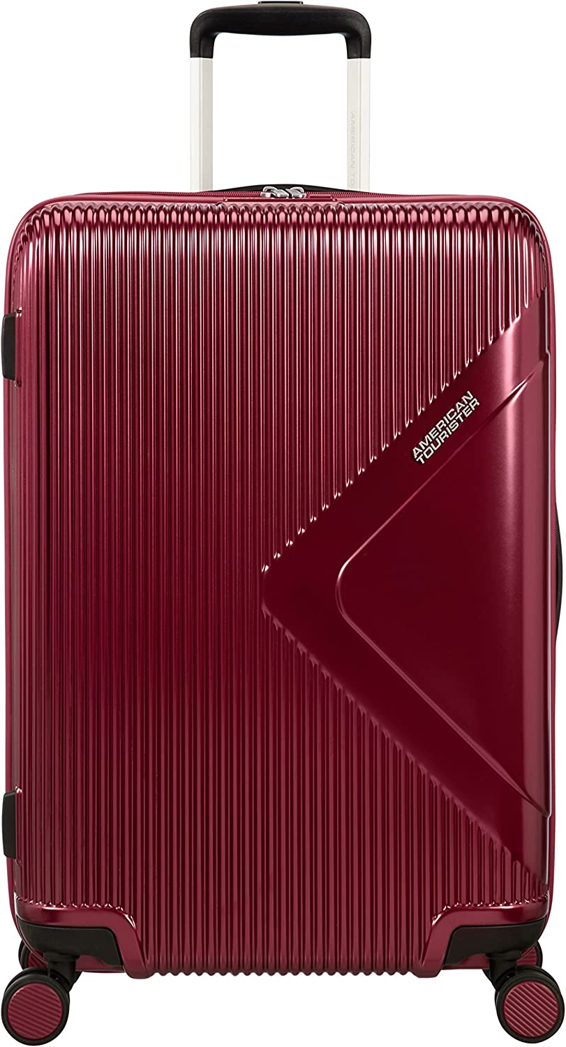 American Tourister Modern Dream - Spinner M Expandible Maleta, 68.5 cm, 81 L, Rojo (Wine Red)