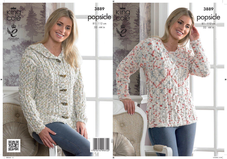 King Cole suéter y chaqueta paleta patrón para tejer 3889: Amazon.es ...