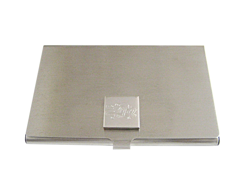 Silver Toned Etched OCTOPUSビジネスカードホルダー   B01JFGTO7E