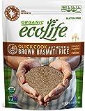 ecoLife Organic Quick Cook Brown Basmati Rice, 4 Pound
