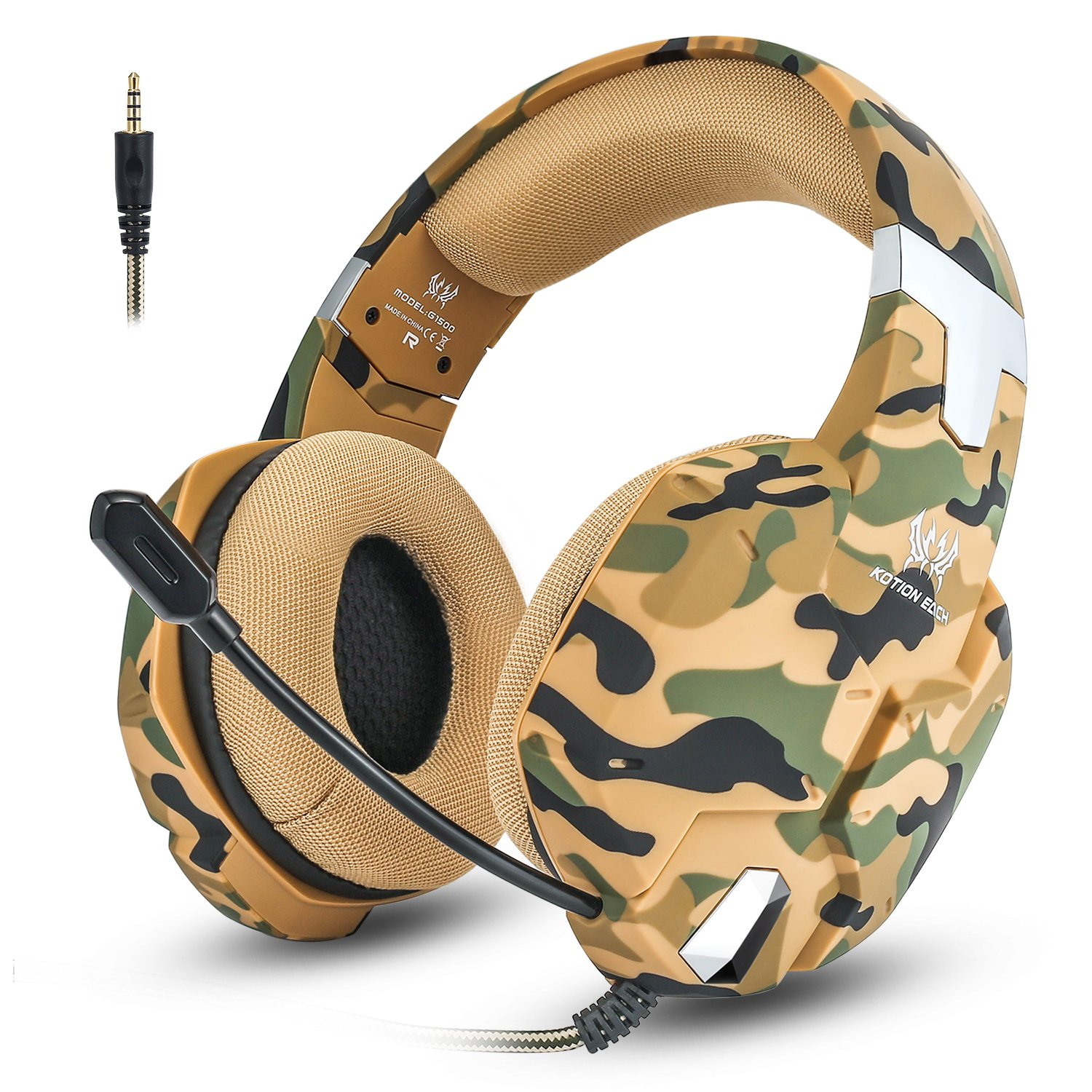 Jeecoo G1500 Gaming Headset for PS4/ PC/Xbox One/Nintendo Switch Gaming Headphones with Mic Volume Control, Soft Memory Earmuff, Surround Sound, Noise Isolating by Jeecoo