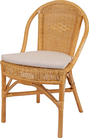 korb.outlet Stapelbarer Rattan-Stuhl Klassik in der Farbe Honig inkl ...