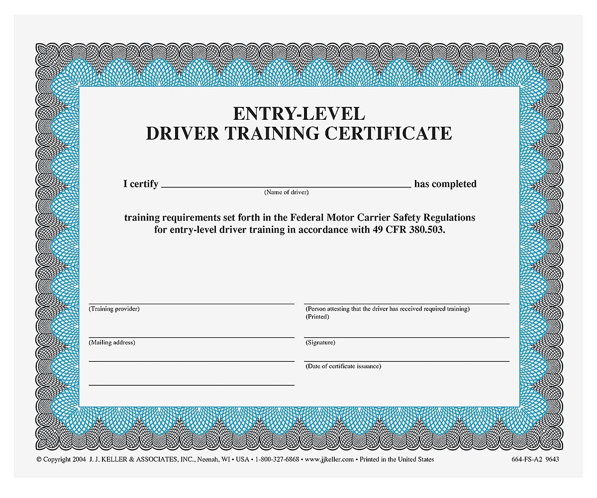 Amazon Entry Level Driver Training Certificate Qty 50 Units