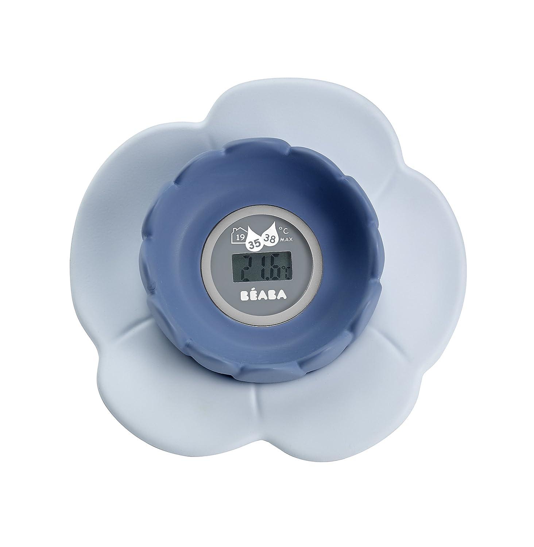 Term/ómetro de ba/ño digital Lotus Gris//Azul B/éaba 920304