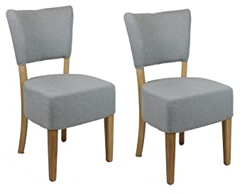 Meubletmoi 2 chaises salle à manger salon bureau restaurant gris