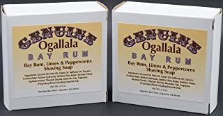 product image for Two (2) Genuine Ogallala Bay Rum, Bay Rum & Lemon Grass Shaving Soap - Each Puck 4.5 oz