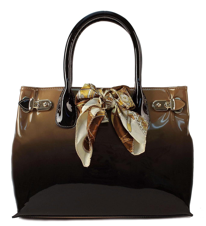 Scarleton Patent satchel H116708 - Beige: Handbags: Amazon.com