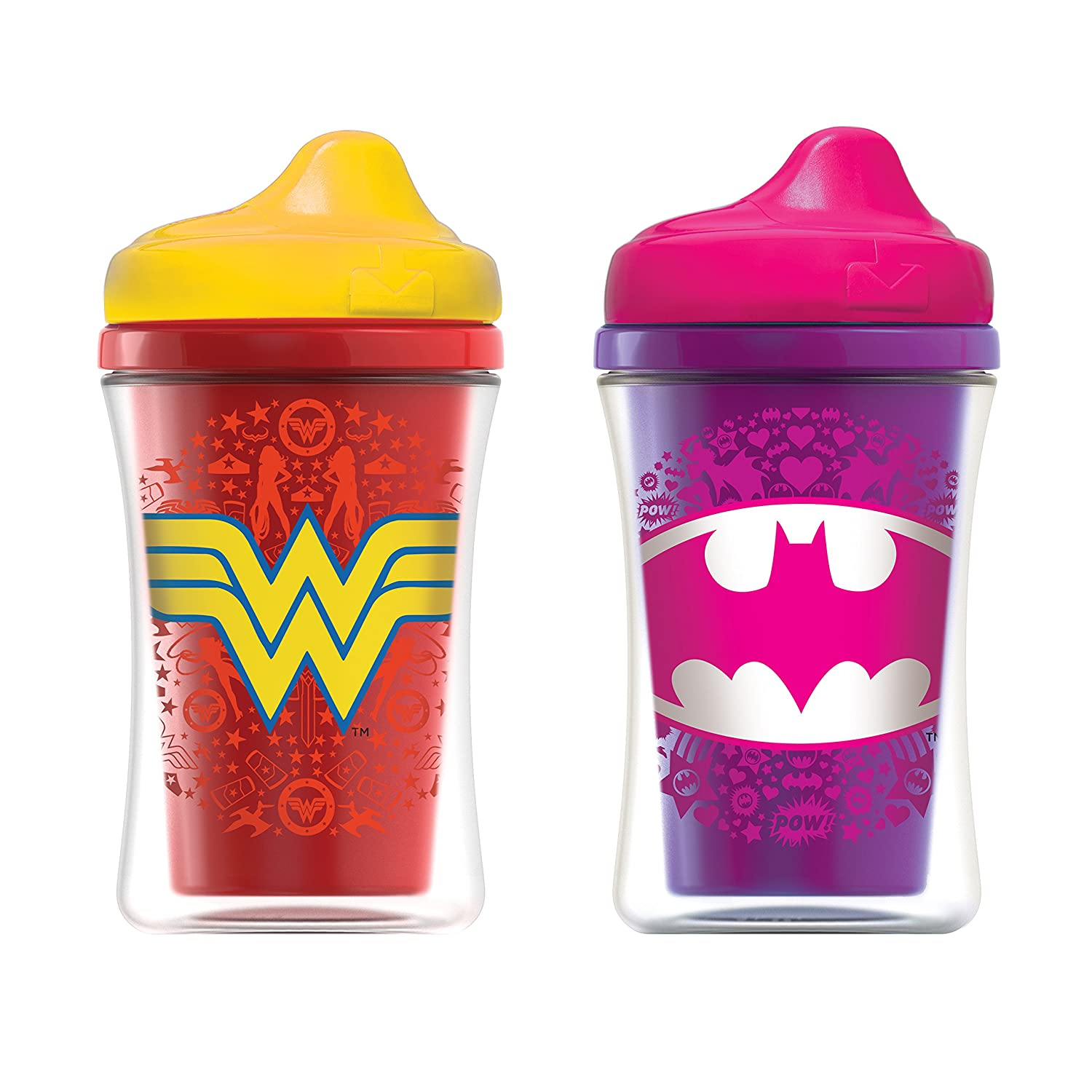 NUK Justice League Insulated Hard Spout Sippy Cup Batgirl//Wonder Woman