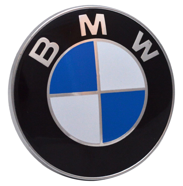 BMW 435435435 Bonnet Boot Hood Emblem 2 pin Badge 82mm 1 3 5 7 Series M3 M5 X5 E30 E36 E46 - Black AutobadgesUK