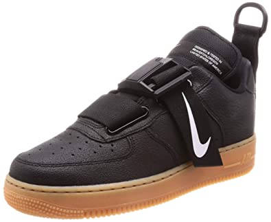 Nike Men s Shoes AIR Force 1 Utility Sneaker in Black Leather AO1531 ... 734a6df0c