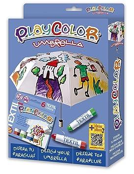 PlayColor - Pack 2 en 1 - 1 Paraguas diám. 96 cm + Textil ...