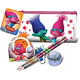 Trolls Childrens/Kids Official Flat Filled Pencil Case