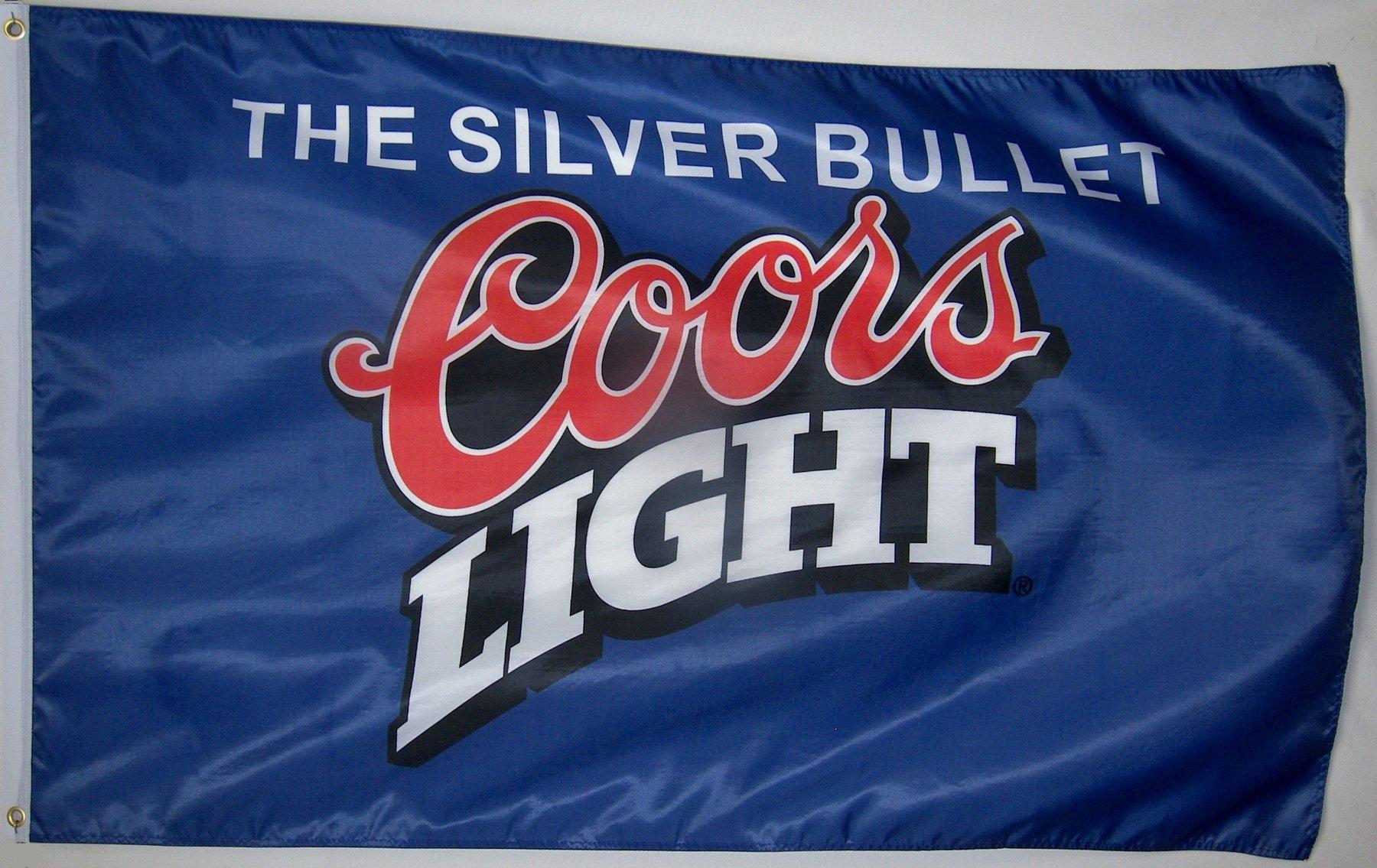 Coors Light Blue Beer Flag 3' X 5' Indoor Outdoor Silver Bullet Banner