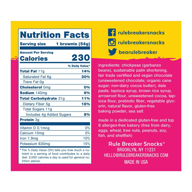Rule Breaker Snacks, Deep Chocolate Brownie, Healthy and Unbelievably Delicious, Vegan, Gluten Free, Nut Free, Allergen Friendly, Kosher (12ct pack) by Rule Breaker (Image #3)