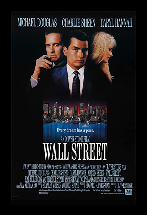 Wallspace Wall Street - 11x17 Framed Movie Poster