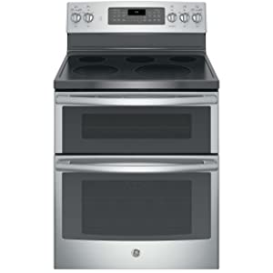 "GE JB860SJSS 30"" Stainless Steel Electric Smoothtop Double Oven Range - Convection"