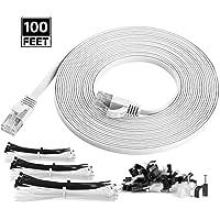 Maximm Cat6 Flat Flexible Ethernet Cable (100 Feet)