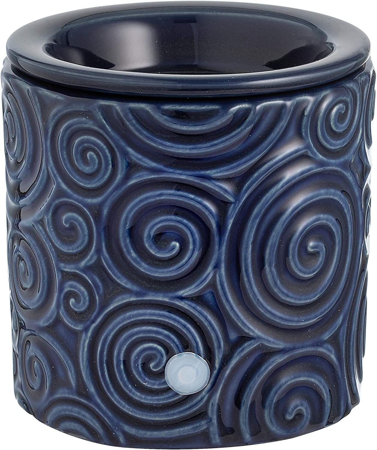Blue Swirl Ceramic Candle Warmer Electric with Safety Timer | Automatic On/Off Plug in Fragrance Warmer for Scented Wax Melts, Cubes, Tarts | Air Freshener Set for Home Décor, Office, and Gifts