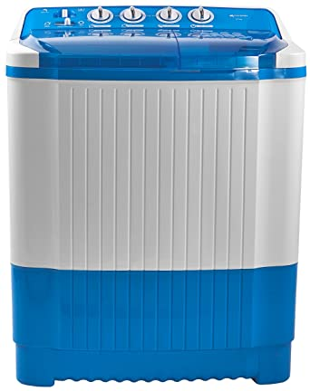 Micromax 8.5 kg Semi-Automatic Top Loading Washing Machine (MWMSA855TVRS1BL, Aqua Blue)