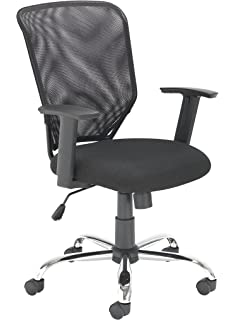Office Hippo Mesh Back Office Desk Chair, Chrome Base, Height Adjustable  Arms And Tilt