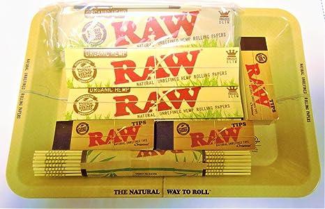 RAW – Juego de mini alfombrilla de puntas de lata, papeles,, bambú orgánica