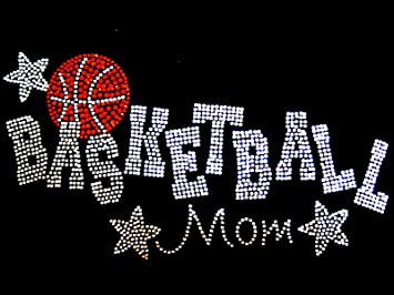 ccb9f14c Amazon.com : Basketball Mom with Stars Rhinestone Iron on Hotfix ...