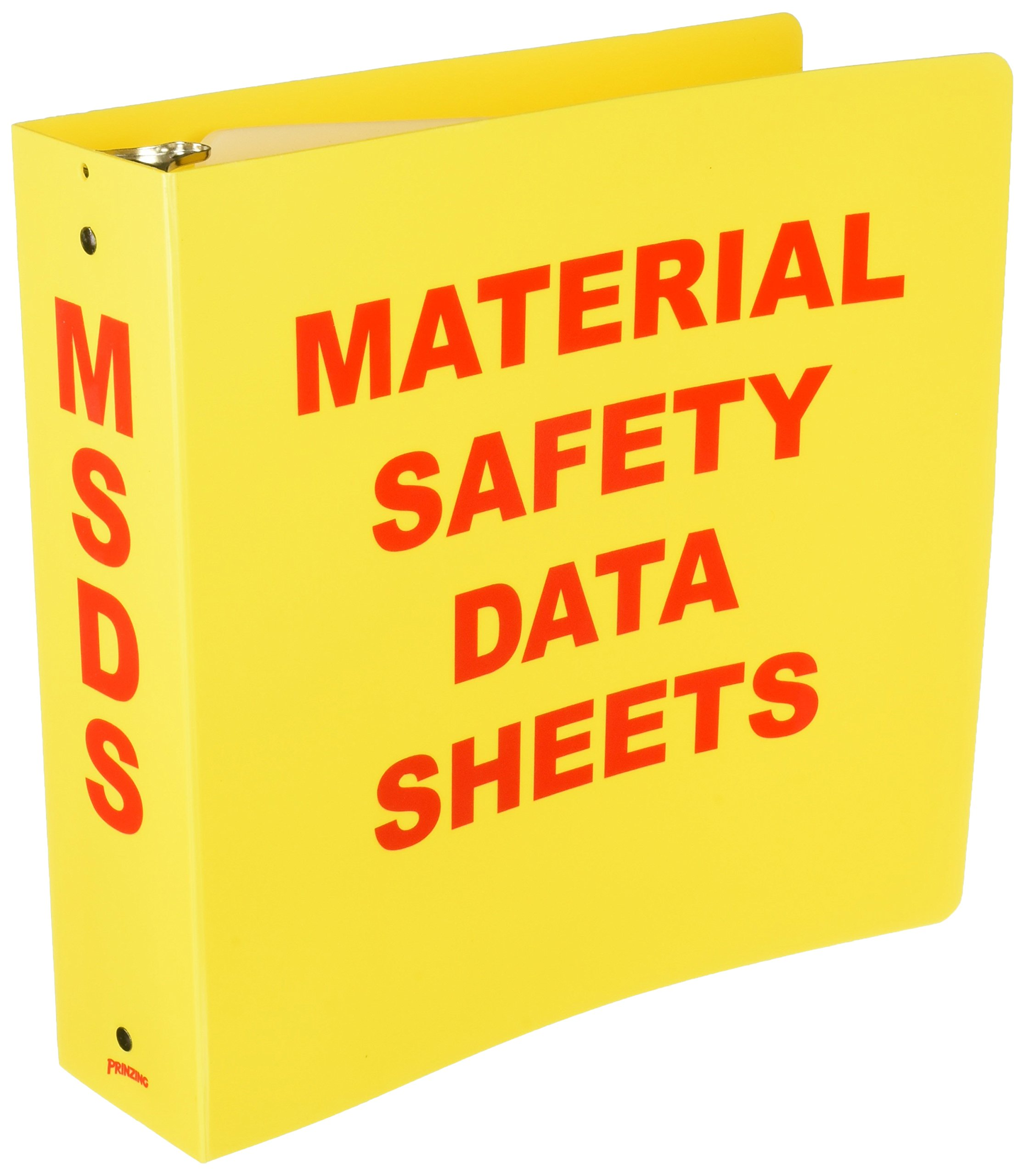Brady BR824A Binder, Material Safety Data Sheets
