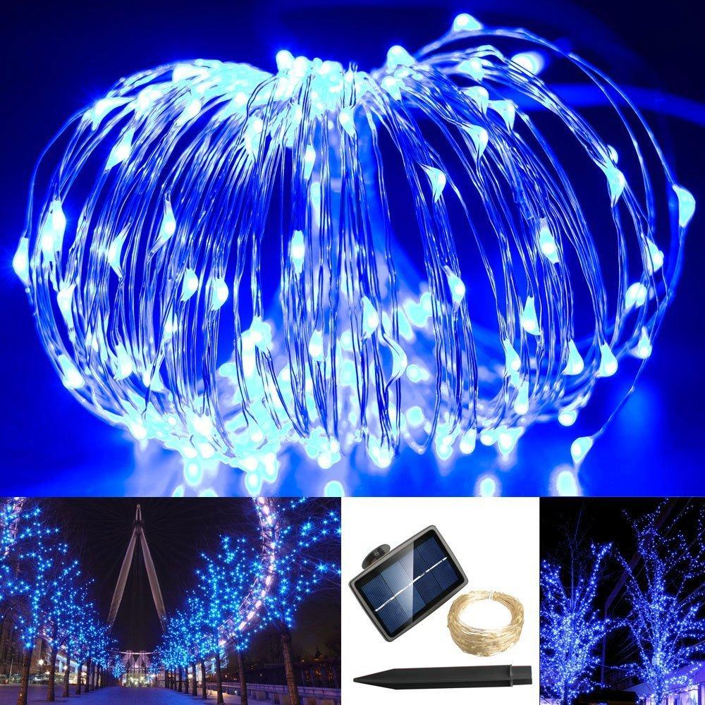 Outdoor String Lights 15 LED Patio Solarmks Globe Solar Powered Lights