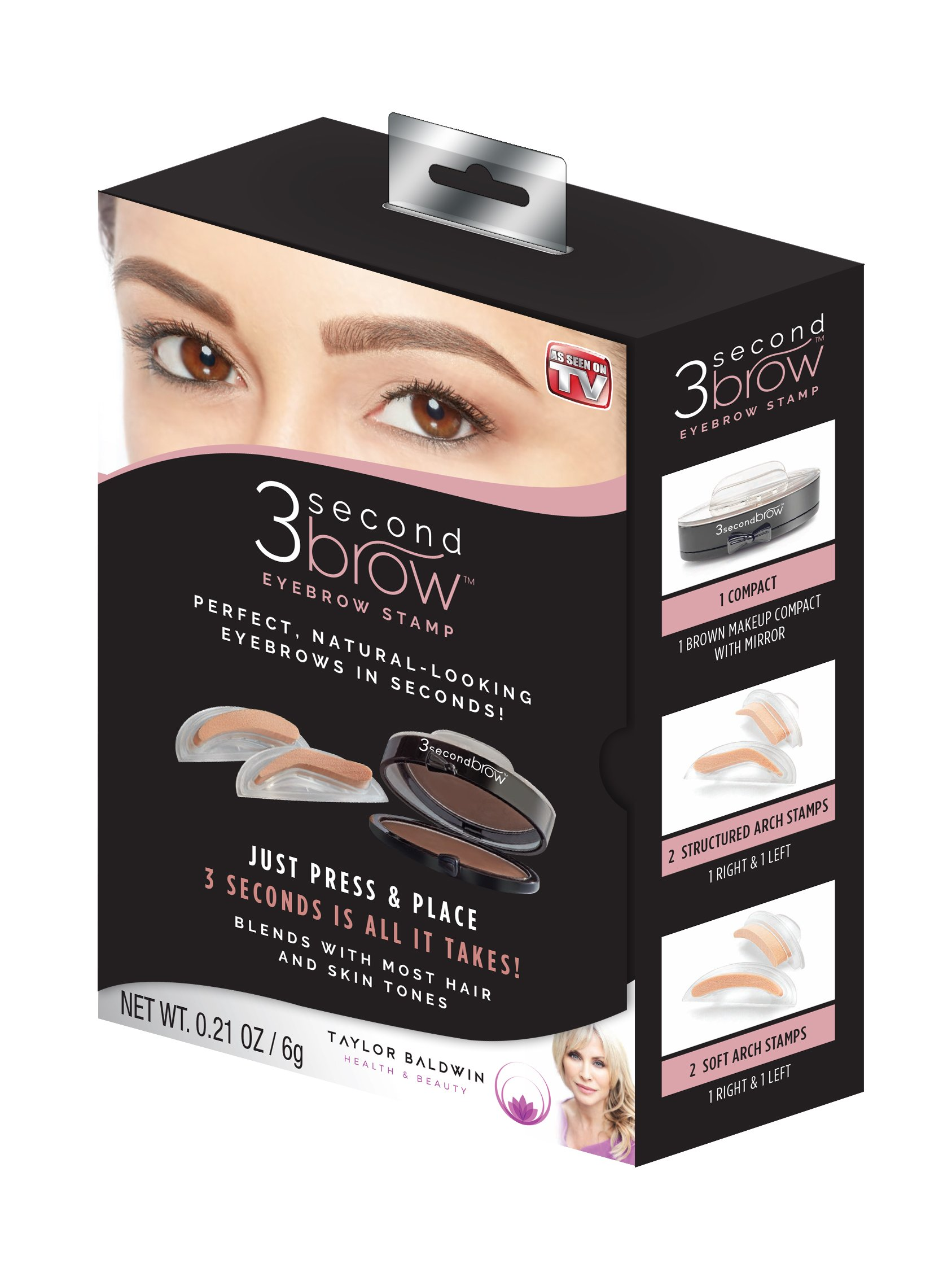 Amazon.com: Kiss i-envy brow stamp kit Dark brown Makeup, 1 Count ...