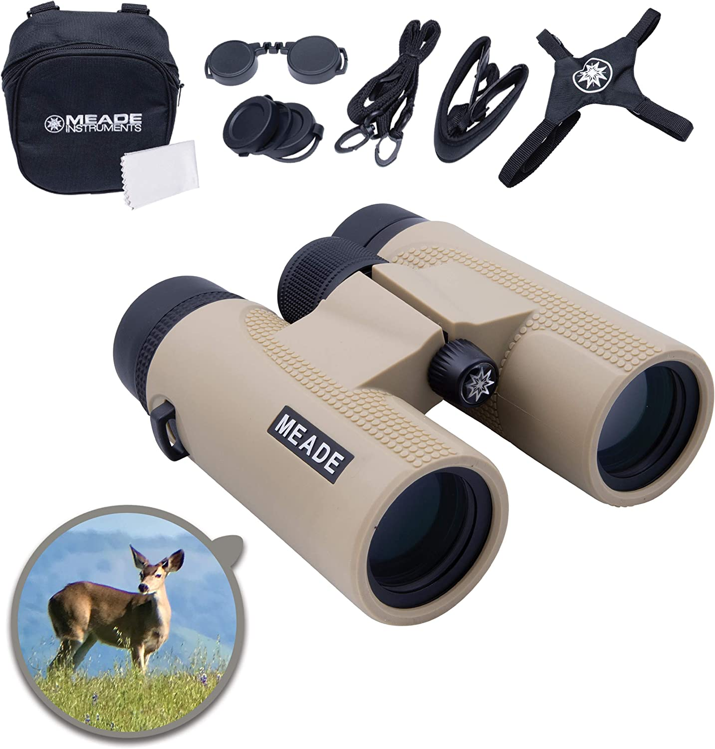 Meade Instruments – CanyonView ED (Extra-low Dispersion) 8x42 Powerful Outdoor Bird Watching Sightseeing Sports Concerts Travel Binoculars – Fully Multi-Coated BaK-4 Prisms – Durable & Waterproof