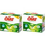 Le Chat L'Expert - Lessive en Tablettes - Lot de 2 x 56 Tablettes - 56 Lavages