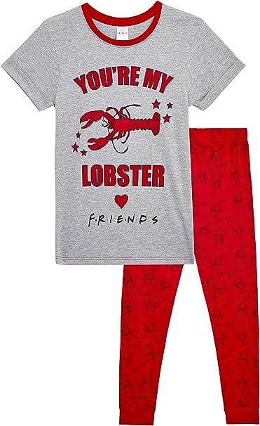 FRIENDS Pijama Mujer You Are My Lobster, Conjunto de 2 Piezas Camiseta de Manga Corta y Pantalón Largo, Ropa de Dormir Algodón Suave, Merchandising Serie, Regalos para Mujer Chicas: Amazon.es: Ropa y