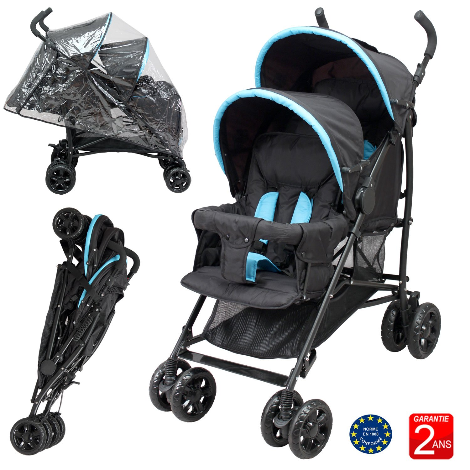 Double Buggy for Children of Similar Age Bebeachat PD09
