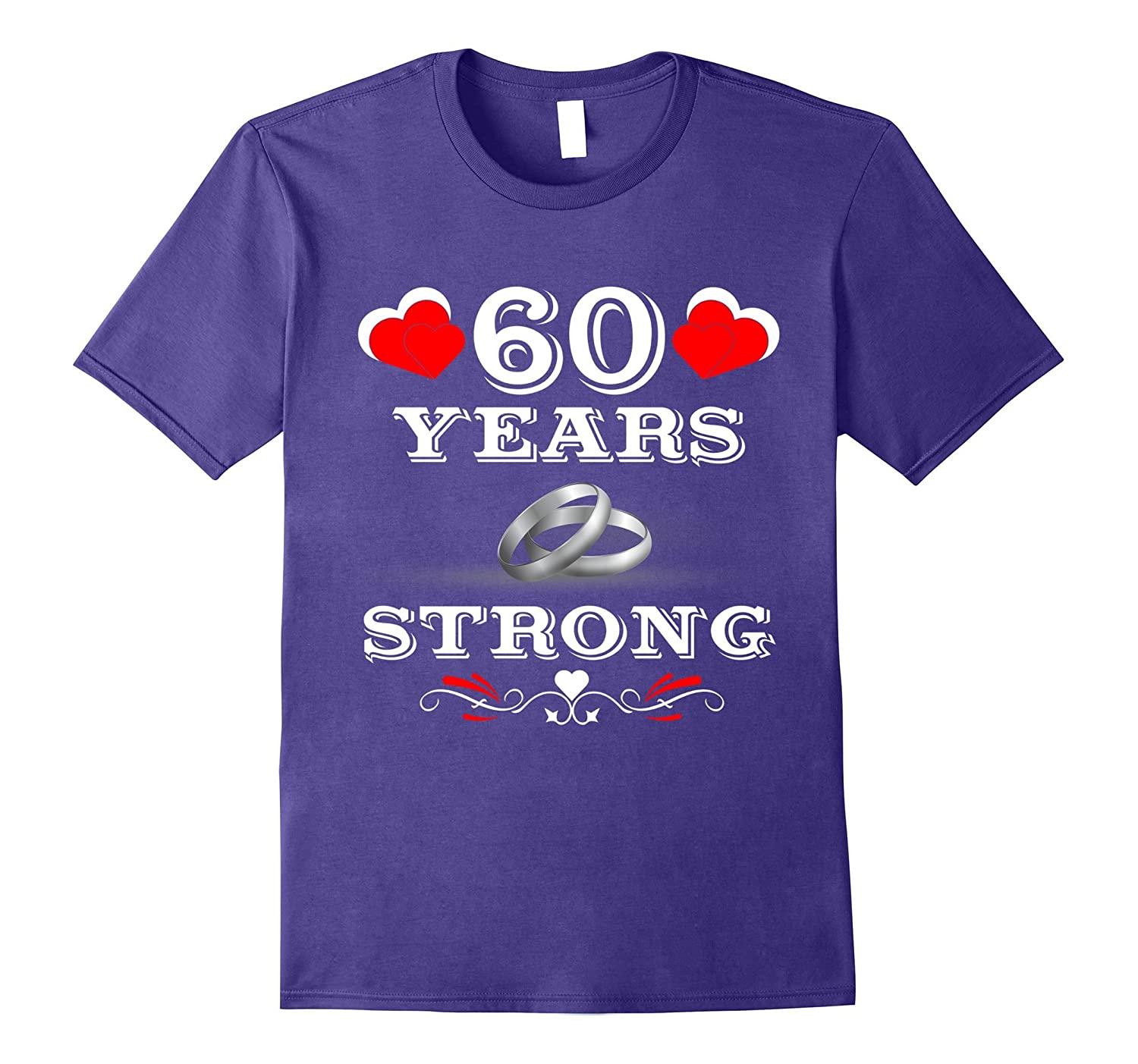 60th Wedding Anniversary Gifts. Tee Shirts For Couples.-FL