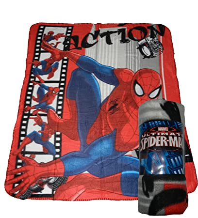 free shipping 40d31 17913 Coperta plaid in pile Spiderman