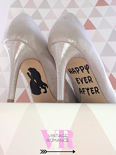 Beauty And The Beast Disney Princess Belle Wedding Day Shoe Decals
